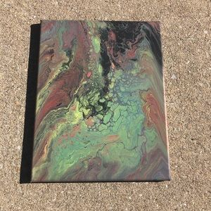 Abstract Flow Art Painting on 11x14 Canvas